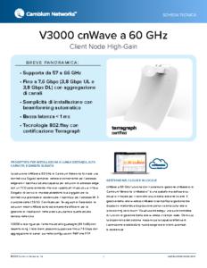 V3000 cnWave a 60 GHz