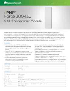 ePMP Force 300-13L 5GHz Subscriber Module