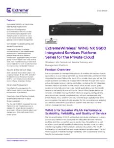 NX9600 Data Sheet